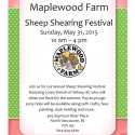 Come on down to the farm for annual sheep shearing festival! On Sunday, May 31st cheer on our shearer as she gets the girls trimmed down for the summer. Weavers will also be demonstrating their skills in the livestock barn. Special rates apply- $8.85 for adults and $5.75 for children