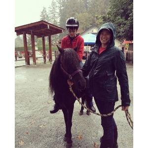 Instagram: farmer Julia safely leads kids around on #frodo our newest pony! #maplewoodfarm #northvancouver #maplewoodfarm40thanniversary