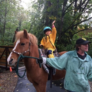 Instagram: Saskia waves to the crowd as she trots off with #farmer Jim and Krokur the #icelandichorse #maplewoodfarm40thanniversary #maplewoodfarm #northvancouver