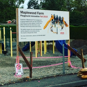 Instagram: Our #playground is getting a makeover! #districtofnorthvancouver #maplewoodfarm
